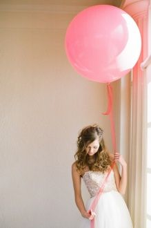 Giant pink latex on thick ribbon
