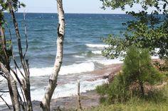 Lake Superior in Marquette Michigan