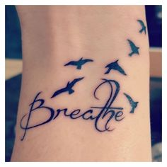 What does just breathe tattoo mean? We have just breathe tattoo ideas, designs, symbolism and we explain the meaning behind the tattoo. Gorgeous Tattoos, Love Tattoos, Unique Tattoos, Body Art Tattoos, New Tattoos, Small Tattoos, Tatoos, Future Tattoos, Tribal Tattoos