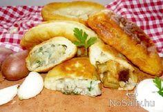 Gombával töltött lángos Hungarian Recipes, Pizza, Chicken, Meat, Food, Eten, Meals, Cubs, Kai