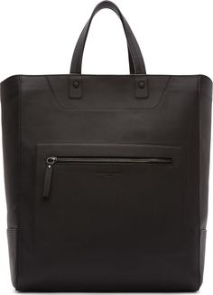 Maison Margiela - Black Leather Tote Bag