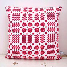 Organic Welsh Blanket cushion. $64.00, via Etsy.