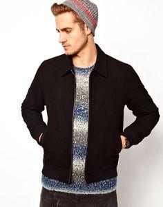 ASOS Wool Harrington Jacket