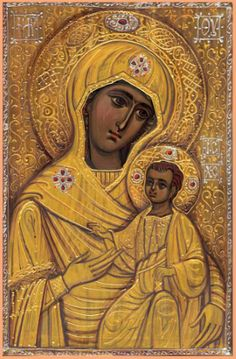 Mother Of Christ, Mother Mary, Orthodox Catholic, Byzantine Art, Art Icon, Orthodox Icons, Religious Art, Spring Crafts, Ikon