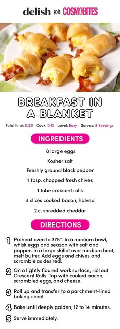 Breakfast in a blanket is everything pigs in a blanket aspires to be.