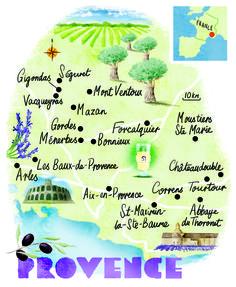 Provence map by Scott Jessop