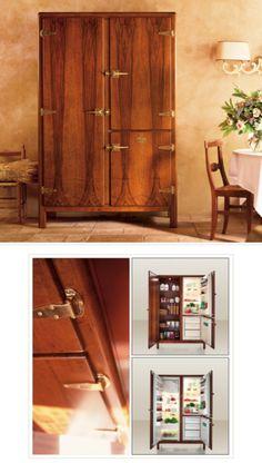 Luxury Italian WOOD Refrigerator from Meneghini