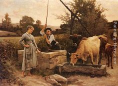Edouard Bernard Debat-Ponsan At the Well