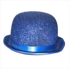 Blauwe glitter bolhoed!