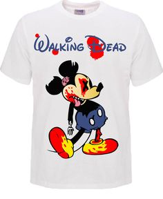 Walking Dead Mickey Mouse Minnie Mouse DIsney by SouthernCartel, $12.99 www.southerncartel.bigcartel.com