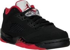 boys' grade school air jordan retro 5 low basketball shoes
