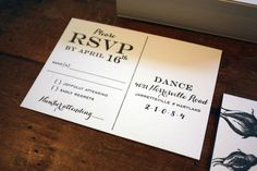 Oh So Beautiful Paper: Turcan + Ev's Formal and Elegant Black + White Wedding Invitations