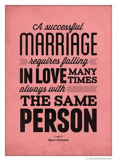 A successful marriage quote wedding