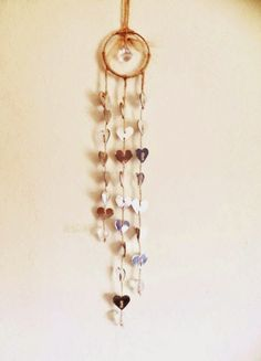 paper hearts hanging decor