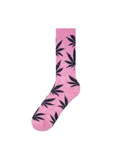 FEN_-HUF-Heather-MagentaNavy-Plantlife-Crew-Socks