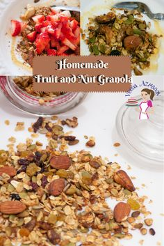 Homemade Fruit and Nut Granola is not just a healthy but also a nutritious way to start your day. Adding you family favorites is the best way to get every member in the family to eating right. Healthy Eating. #Granola, #homemade #fruit #nut #healthy #eating healthy granola recipe