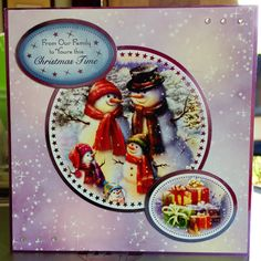 (125) Christmas Card (8ins x 8ins) makings from Hunkydory Winter Wonderland Collection