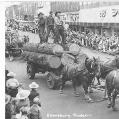 A load of logs :: Ellensburg Heritage