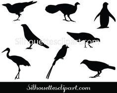 Birds Silhouette Vector Graphics