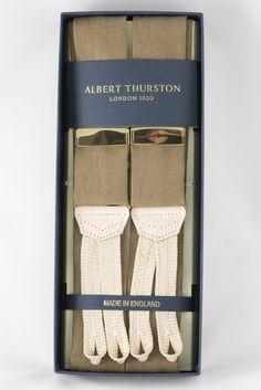 Albert Thurston - Olive Green Linen Braces