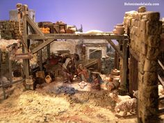 Portal, Christmas Nativity, House Styles, Hang, Bethlehem, Buildings, Home Decor, Cabinet, Dioramas