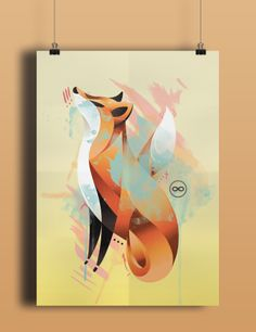 Foxy Lady Poster Graphic Design Illustration, Abstract, Lady, Artwork, Poster, Instagram, Summary, Work Of Art, Auguste Rodin Artwork