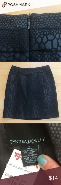 """Black Crocodile Skirt Brand new mini pencil skirt made from a nice polyester/spandex blend material that has a crocodile print. This is a fun way to wear an animal print without it being too over the top. Paneled design with defined waistband for the most flattering fit. Black liner. Back zipper. Not only is this skirt cute, but it is also machine washable! 17.5"""" long and 14.5"""" waist at the very top of the band. Last photo looks lighter due to lighting. Skirt is a try black as seen in other…"""