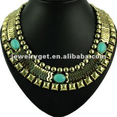 Aliexpress.com : Buy Big Punk Watch Gold Chain Type Necklace,Turquoise Embellished,NL 1657 from Reliable Watch chains type necklace suppliers on Well Done Fashion Jewelry Co.,Ltd. $16.21