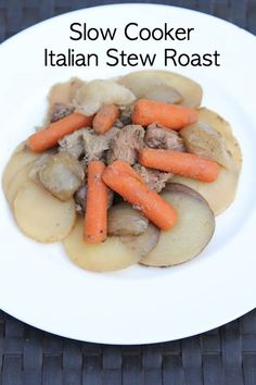 Slow Cooker Italian Stew Roast ~ part of our 20 GF Slow Cooker Freezer Pack Meal Plan for Costco | 5DollarDinners.com
