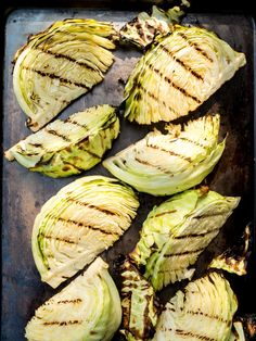 Smoky and charred grilled cabbage wedges with a spicy lime vinaigrette. Beef Plate Ribs, Beef Ribs Recipe, Veggie Side Dishes, Side Dish Recipes, Grilled Cabbage Wedges, Smoked Pork Ribs, Lime Vinaigrette, Lime Dressing, Green Cabbage