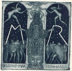 Art by Emil Orlik 1870-1932, 1911, Max Reinhardt's Ex Libris. Max Reinhardt (1873-1943) was an Austrian-born American stage and film actor and director.