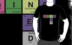 """""""SCIENCE NERD - Periodic Elements Scramble!"""" T-Shirts & Hoodies by dennis william gaylor 