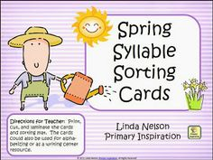Spring Syllable Sorting Cards