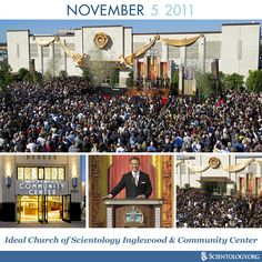 Today we celebrate the anniversary of the dedication of the Ideal Church of Scientology in the heart of Inglewood and the Church of Scientology Community Center in South Los Angeles.