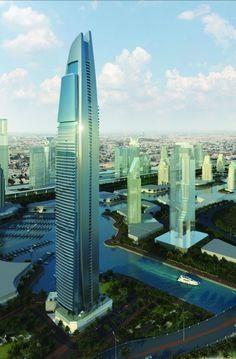 DAMAC Heights - Dubai, UAE (335.3m/1100ft) (Aedas)