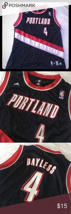 🏀 Authentic Adidas Portland Trailblazer Jersey 🏀 Must-have for any Portland Trailblazer fan! #4 Bayless bedazzled Adidas jersey. Adidas Tops