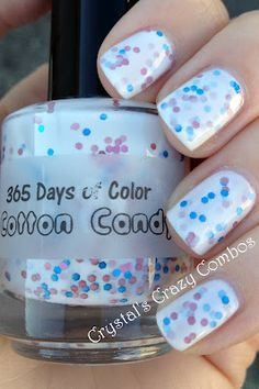 Crystal's Crazy Combos: 365 Days of Color - Cotton Candy Nails