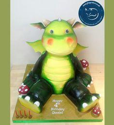 Digby Dragon Cake, made by The Foxy Cake Company!