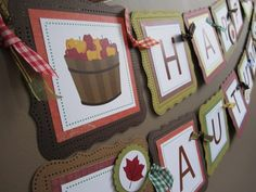 Happy Autumn Thanksgiving Banner Decoration for Fall Season | adorebynat - Seasonal on ArtFire