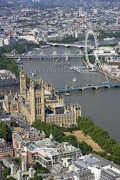 Great view of The Palace of Westminster and the London Eye