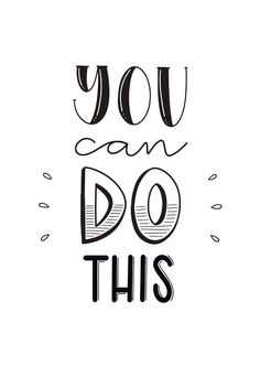 Handlettering Inspiration — You can do this. Succes kaart met de tekst you can do this in handletteringstijl Calligraphy Quotes Doodles, Doodle Quotes, Hand Lettering Quotes, Brush Lettering, Calligraphy Handwriting, Doodle Lettering, Calligraphy Alphabet, Lettering Styles, Typography Quotes