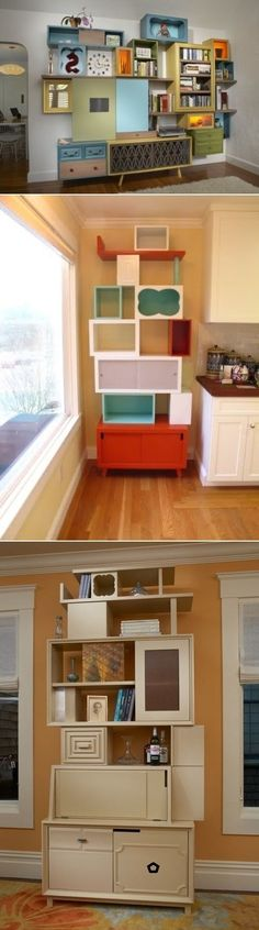 DIY Storage Systems Made Of Reclaimed Furniture