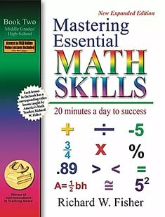 Free Read Mastering Essential Math Skills: 20 Minutes a Day to Success, Book Middle Grades/High School Author Richard W. Math Tutor, Math Skills, Math Teacher, Teaching Math, Math Education, Math Classroom, Teacher Stuff, Homeschool Math, Curriculum