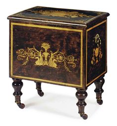 A VICTORIAN PAINT-DECORATED AND FAUX MARQUETRY INLAID MUSIC BOX, LATE 19TH/EARLY 20TH CENTURY