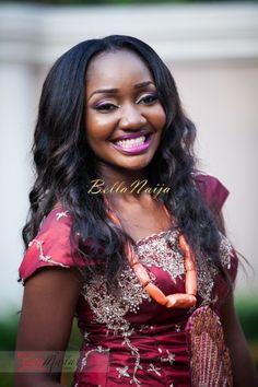Bellanaija Bride Chiamaka Photography By Gazmadu Fabrics Mrs Ejeson Nigerian Wedding Makeup Igbo Igba Nkwu Wine Carrying C Beads