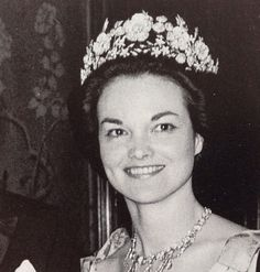 The Dowager Duchess of Bedford, when Marchioness of Tavistock, wearing the family tiara