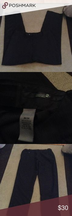 Black Dress Pants With comfort waist to stretch an extra size or two. Very soft outer, comfortable used once for a wedding Savane Pants Trousers