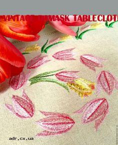 vintage damask tablecloth