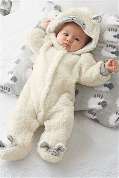Infant One Piece Clothing Baby One Piece Romper Boys White Hooded Jumpsuits Kids Climb Clothes Children Winter Long Sleeve Jumpsuit RompersBuy White Sheep Pramsuit from the Next UK online shopKeep your little cutie wrapped up and cozy! Baby Boy Outfits, Kids Outfits, Kids Climbing, One Piece Clothing, Cute Baby Wallpaper, Diy Bebe, Kids Winter Fashion, Foto Baby, Cute Baby Pictures
