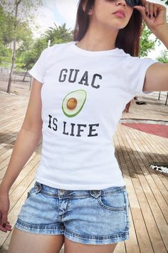 Guac is life guacamole shirt funny t-shirt food by oTZIshirts